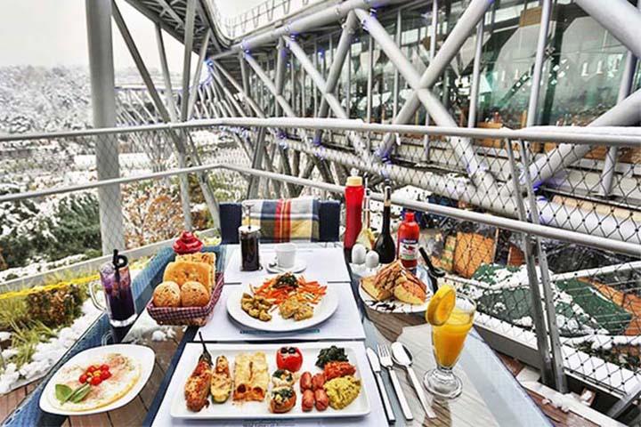 رستوران و کافه های پل طبیعت